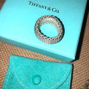 Tiffany and Co. Sterling Silver Somerset Mesh Band